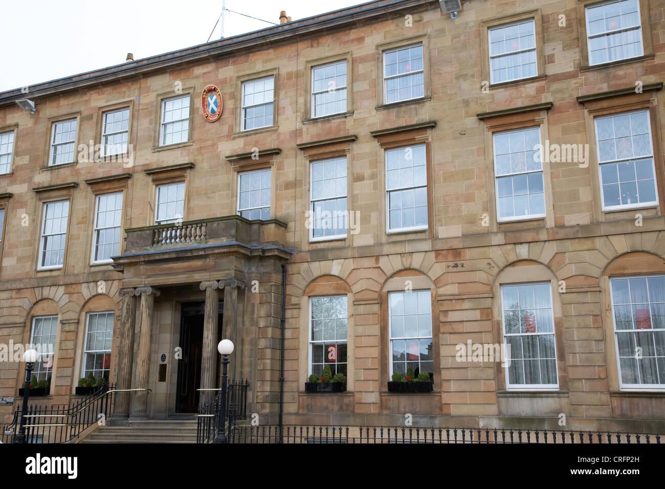 royal scottish automobile club georgian townhouse now the blythswood square hotel glasgow scotland uk - Stock Image