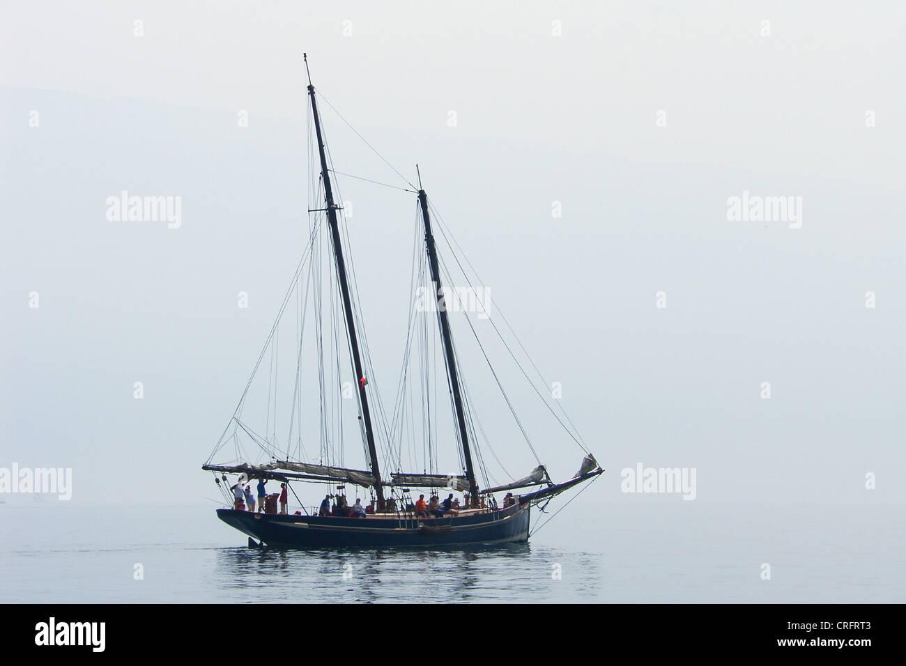 sailing boat - Stock Image