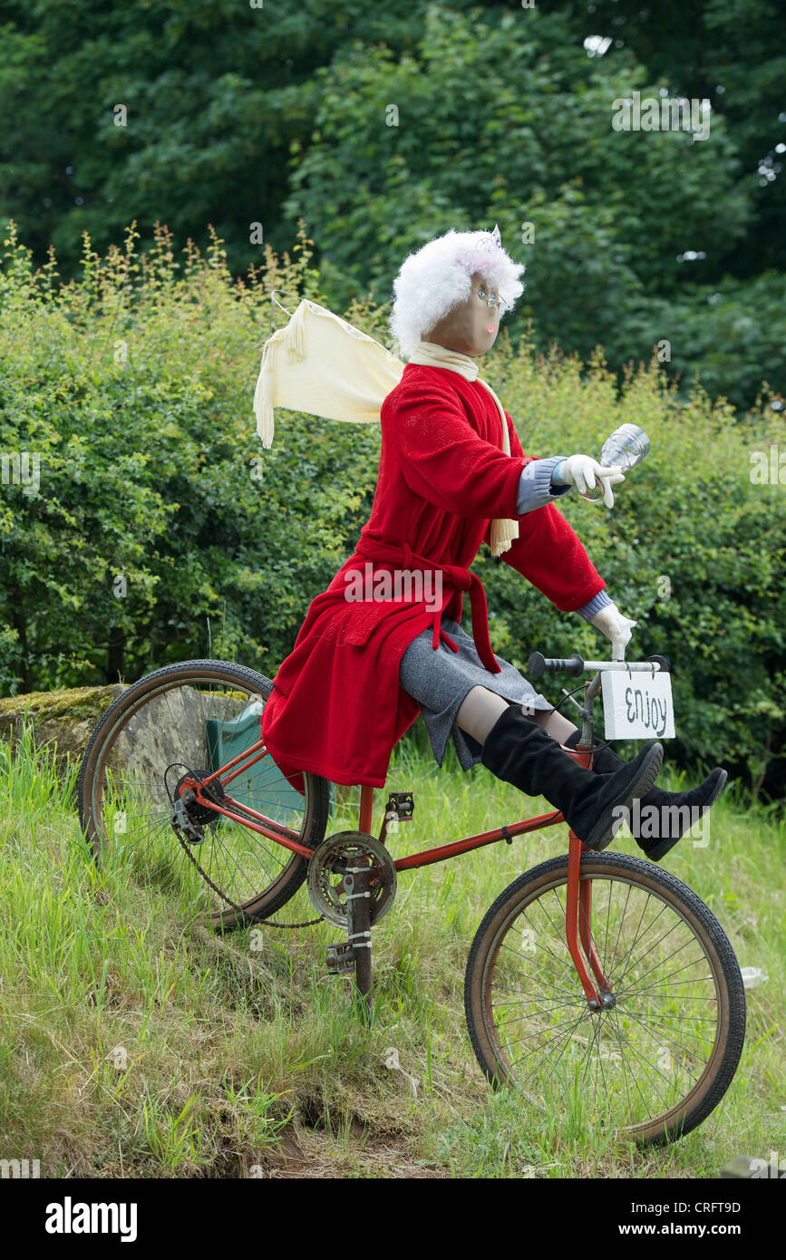 Cheshire village humorous celebration of the Olympics & Queen's Jubilee - Stock Image