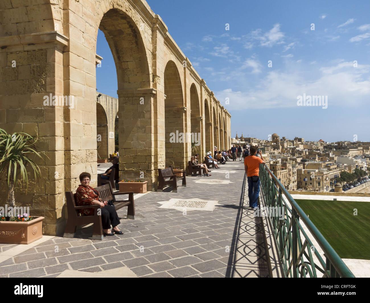 Upper Barrakka Gardens, Valletta, Malta. - Stock Image
