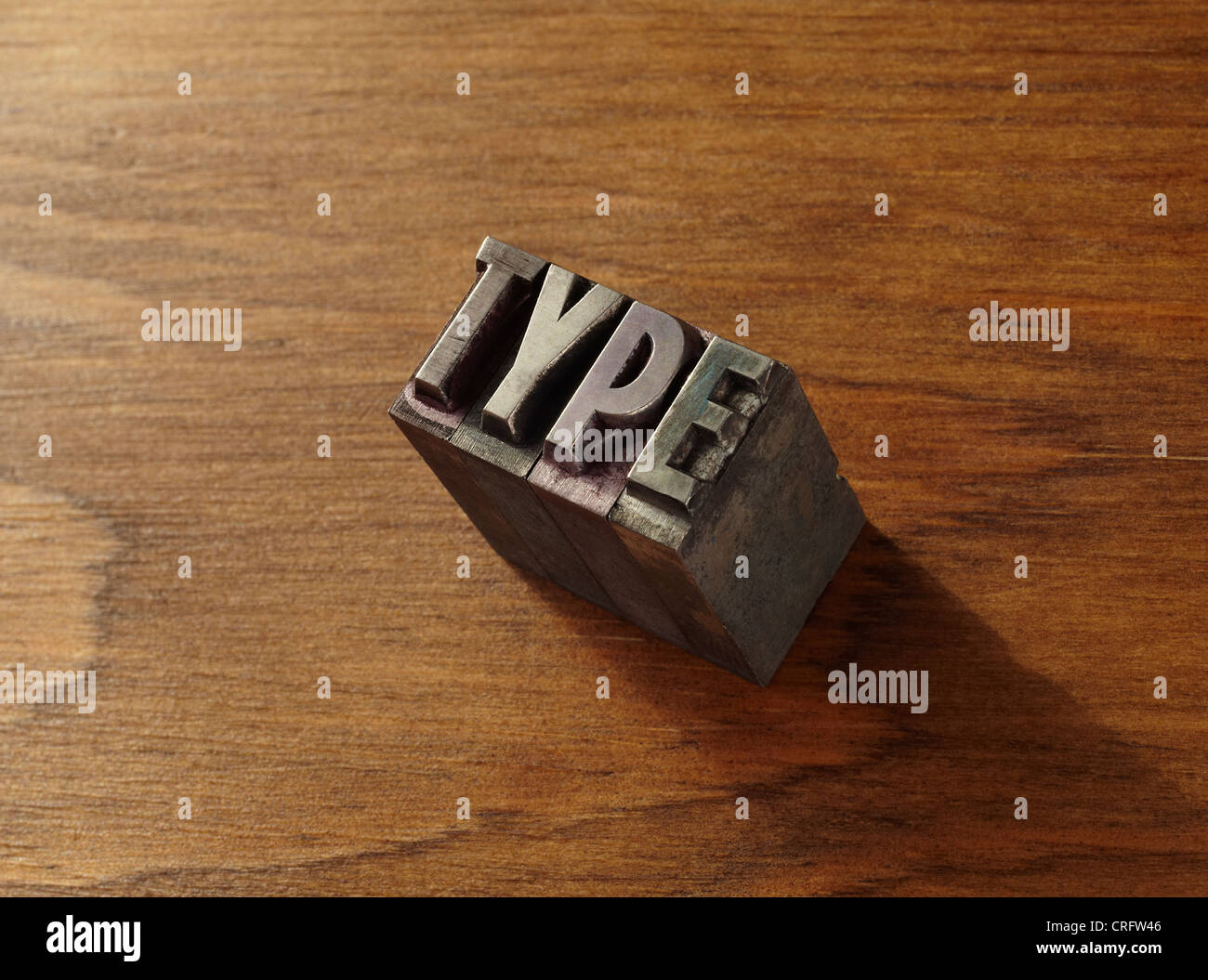 Lead type spelling 'type' - Stock Image