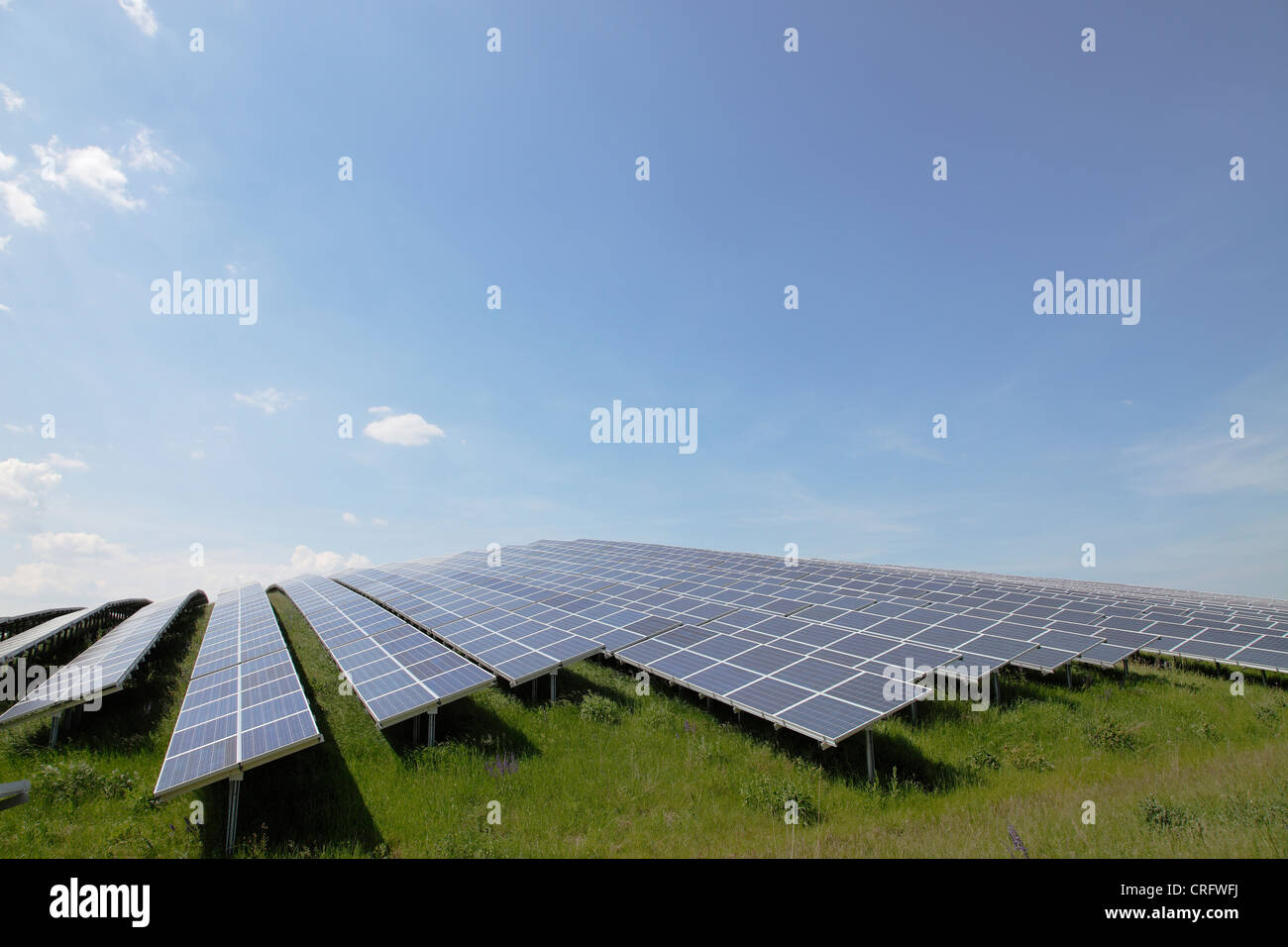 solar power plant; helioelectric station; solar energy - Stock Image