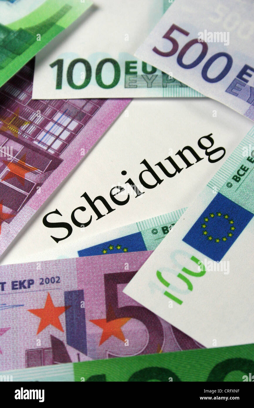 symbolpicture divorce expenses - Stock Image