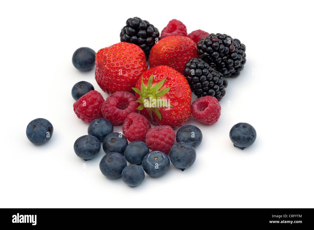 Assortment of berries - Stock Image