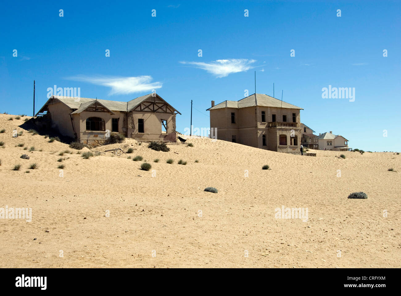 school house in Kolmanskop, abandoned diamond town, Namibia, Luederitz - Stock Image