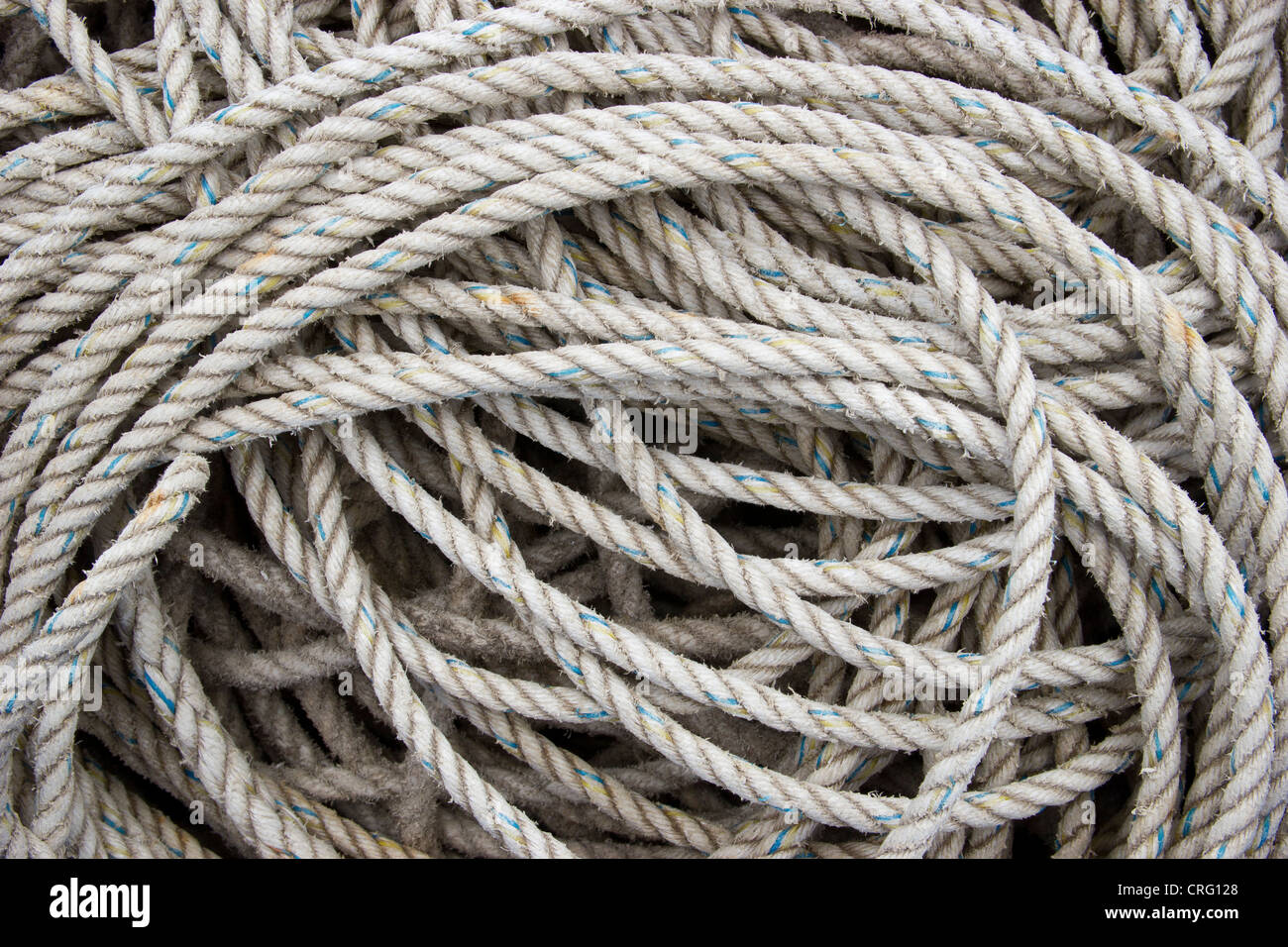 Coil of rope - Stock Image