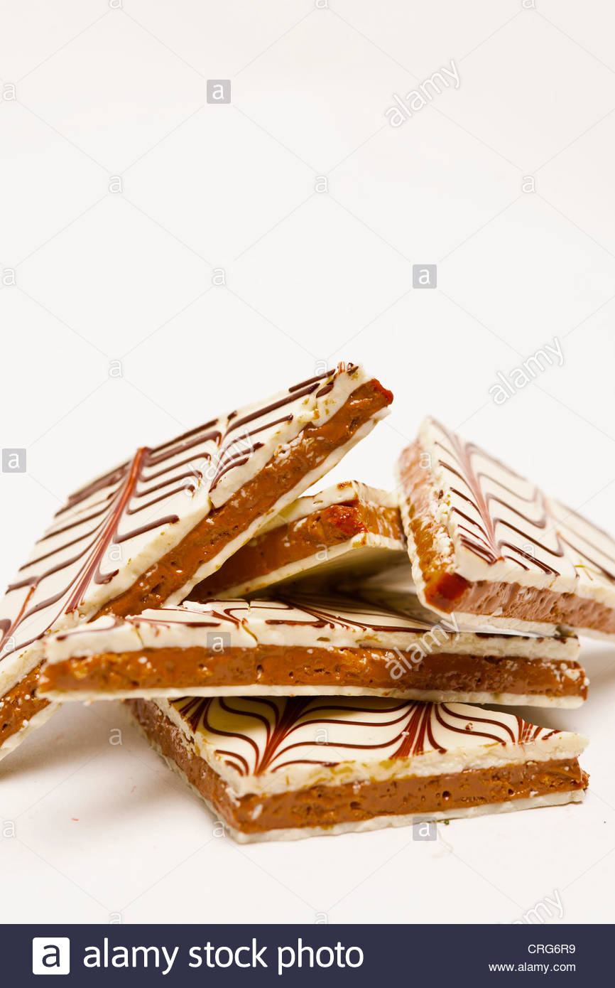 Close up of handmade chocolate - Stock Image