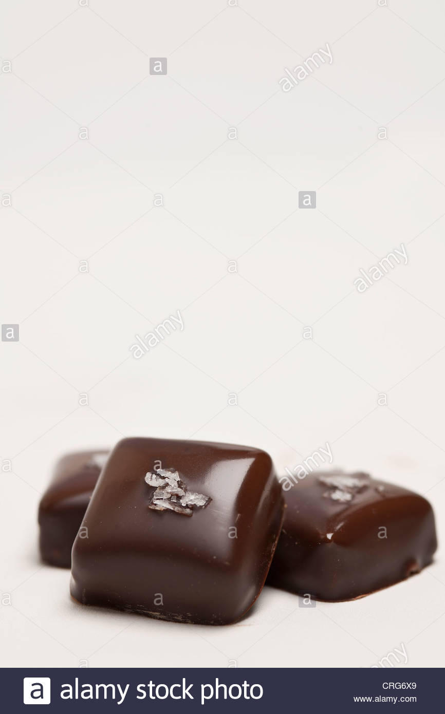Close up of handmade chocolates - Stock Image