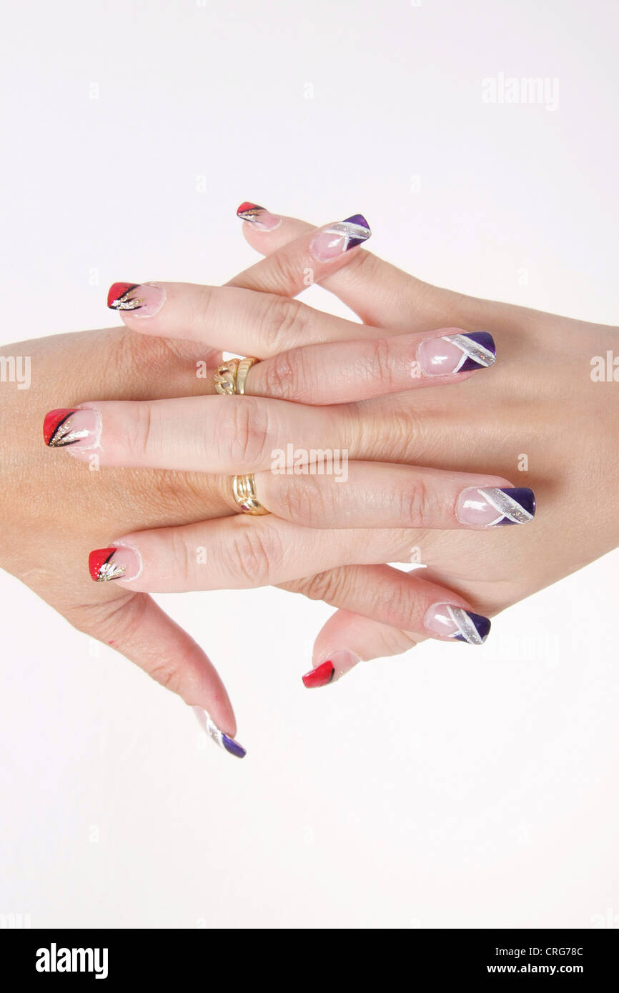 Varnished Fingernails Stock Photos & Varnished Fingernails Stock ...