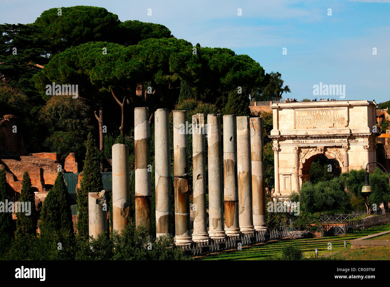 Arch of Titus on a sunny day. - Stock Image