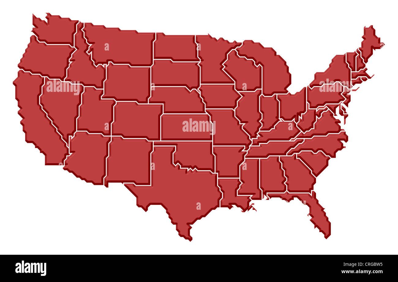 Map Of America Jigsaw.Jigsaw Map Puzzle America U S United States U S A Stock Photos