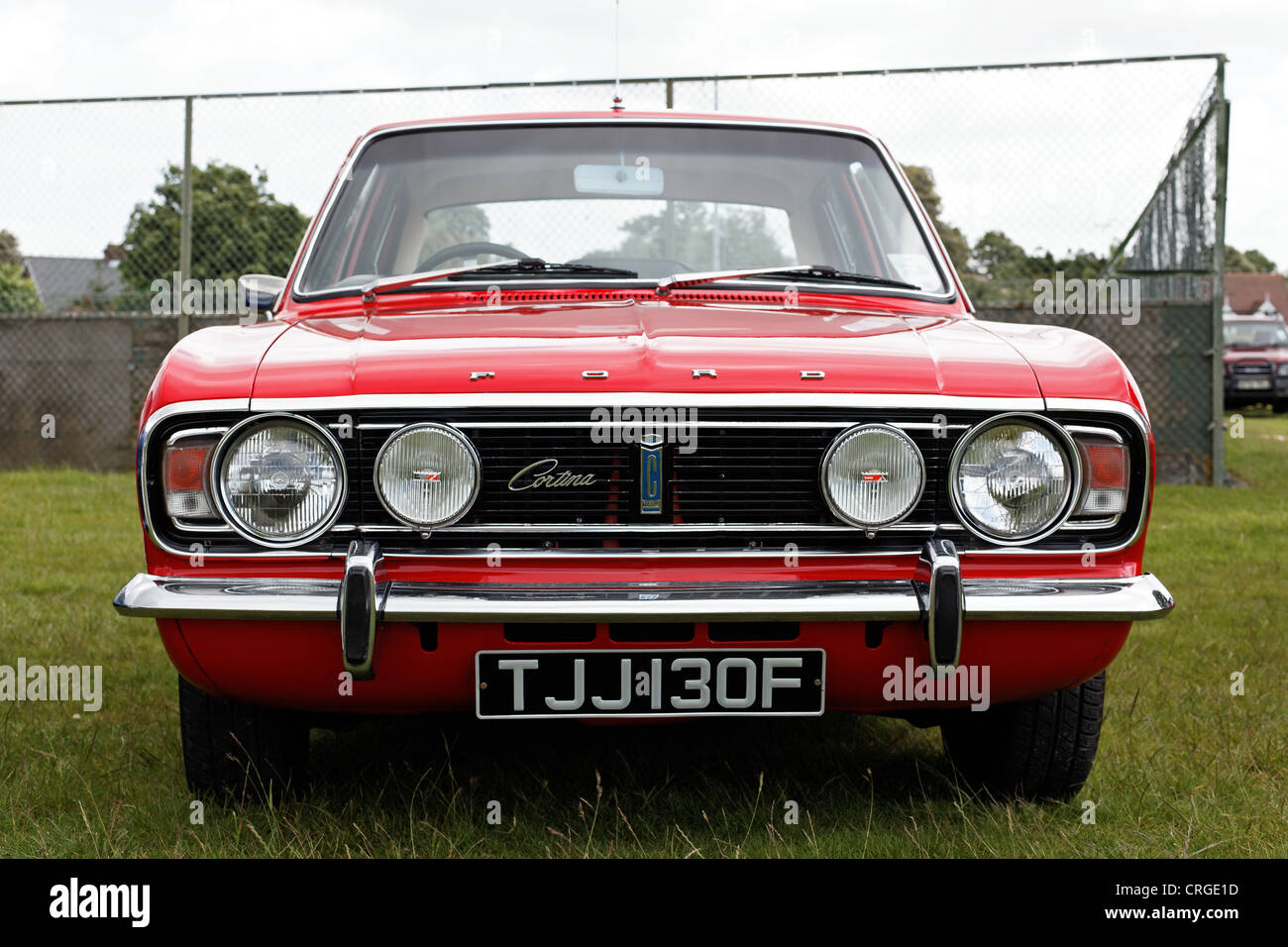 A British Ford Cortina GT dating from about 1968. Stock Photo
