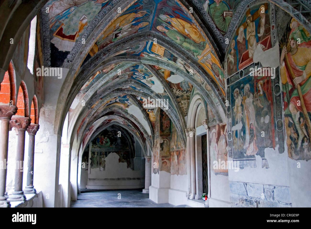 cross-coat, arcades, Italy, Trentino-Suedtirol, Brixen - Stock Image