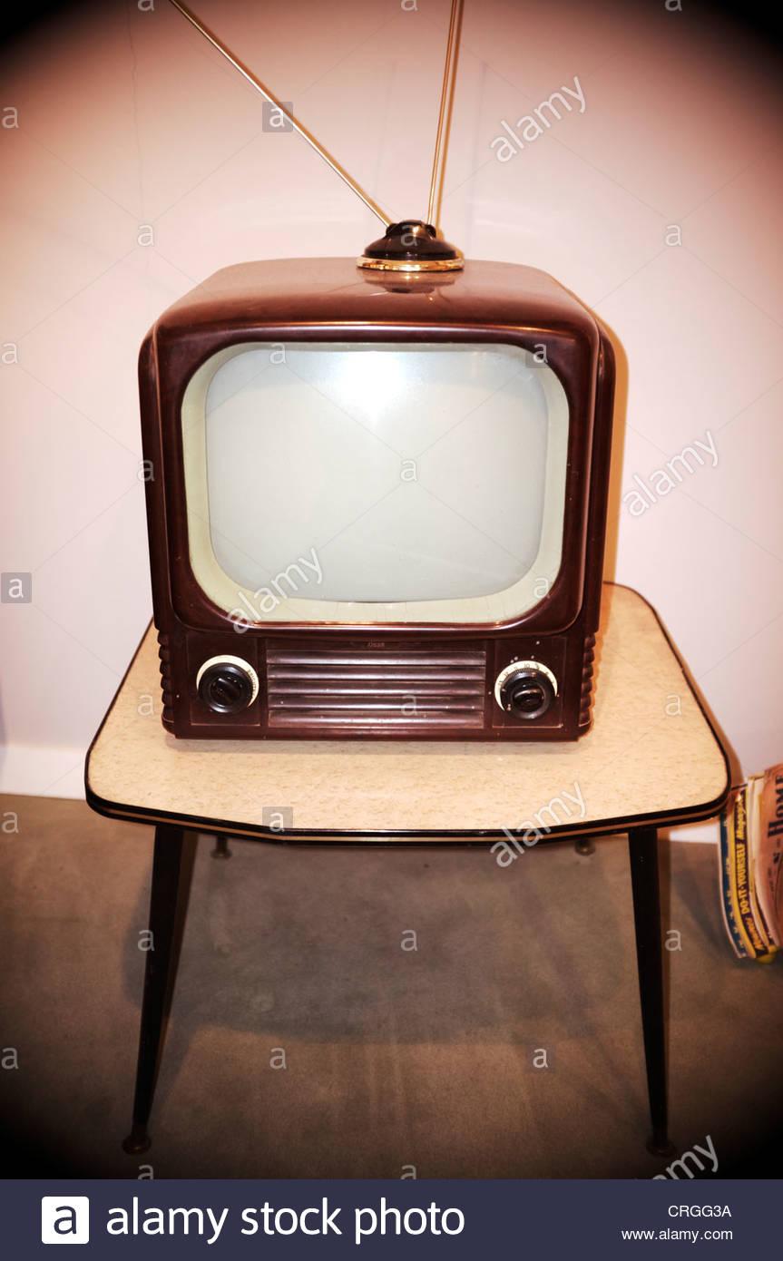 1950's style television set, UK. - Stock Image
