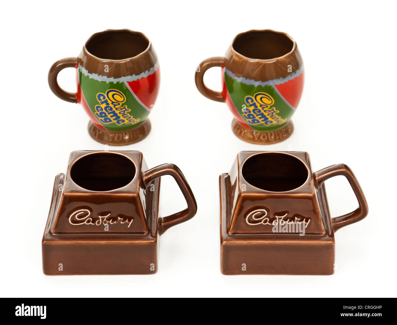 Selection of Cadbury promotional mugs by Carltonware Pottery - Stock Image