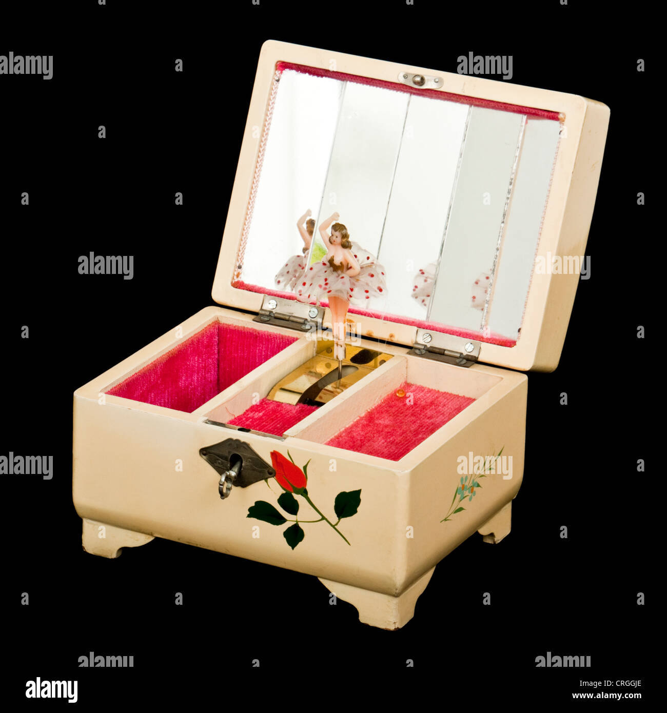 Vintage Musical Jewellery Box With Revolving Ballerina