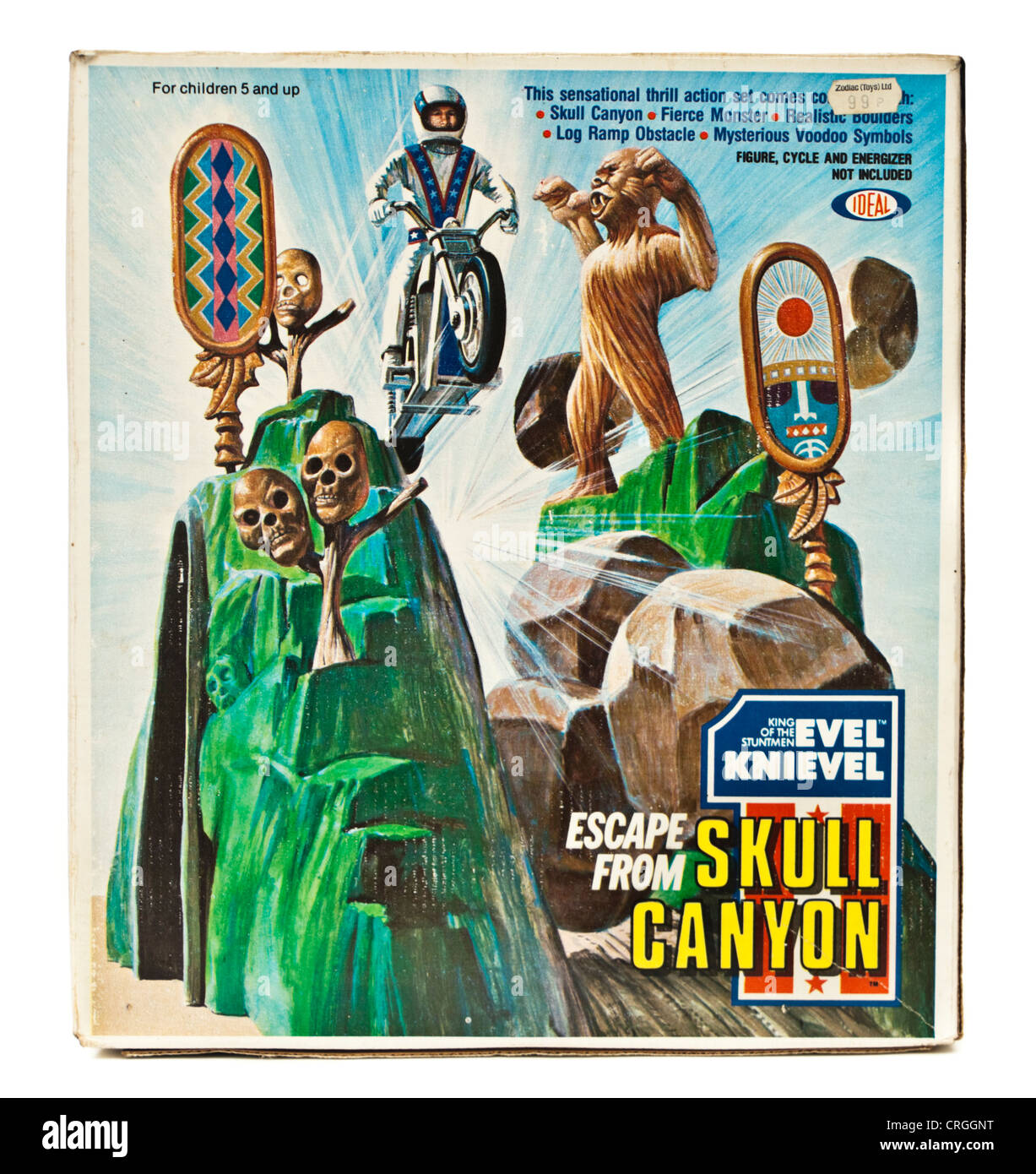 1975 Evel Knievel 'Escape from Skull Canyon' toy by Ideal - Stock Image