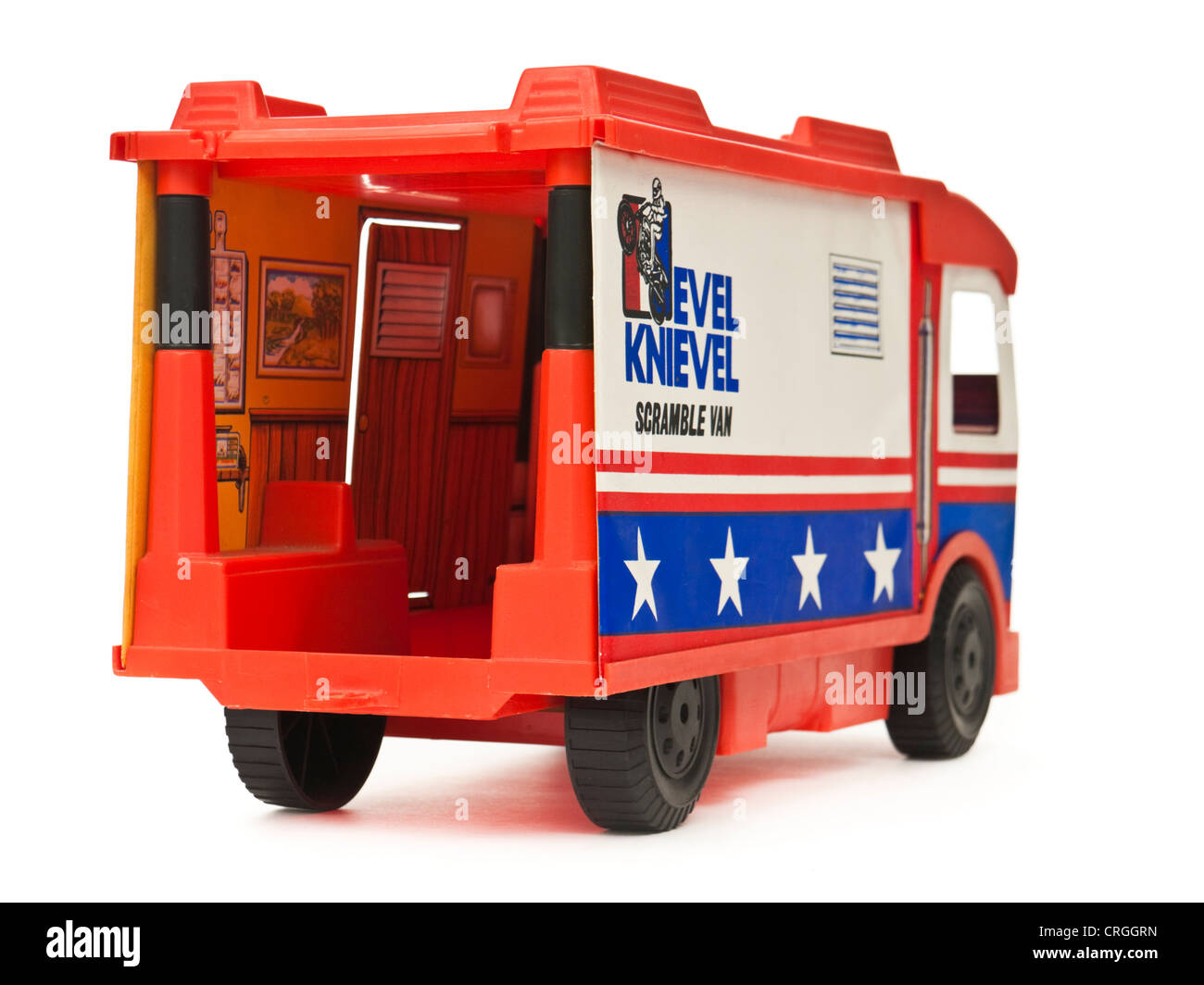1973 Evel Knievel 'Scramble Van' toy by Ideal - Stock Image