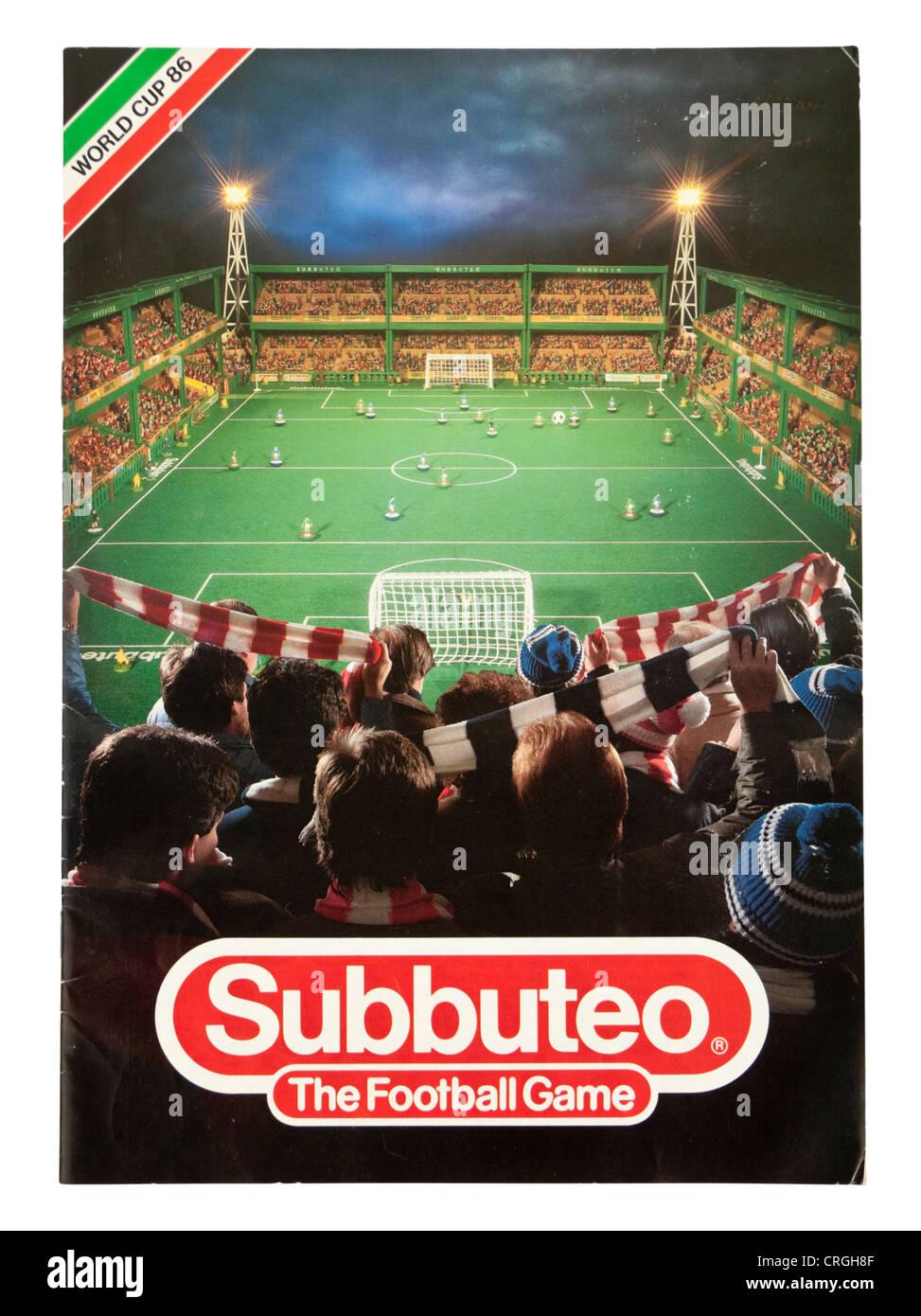 1986 Subbuteo table football / soccer catalogue - Stock Image