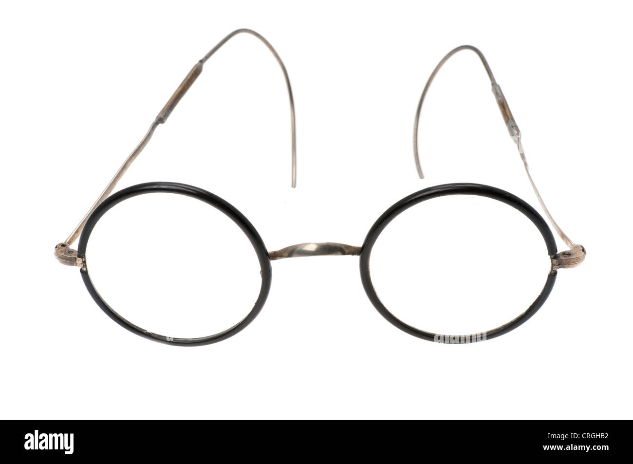 A pair of vintage c.1930 horn rimed glasses. These are glasses from Germany. - Stock Image