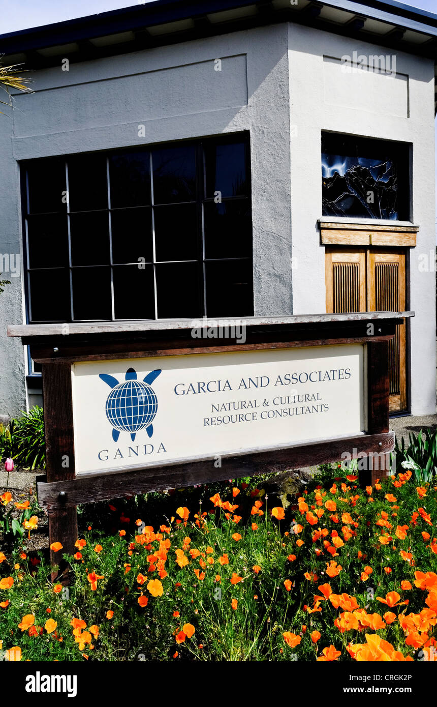 Garcia and Associates Environmental Consulting Company, San Anselmo, California USA - Stock Image