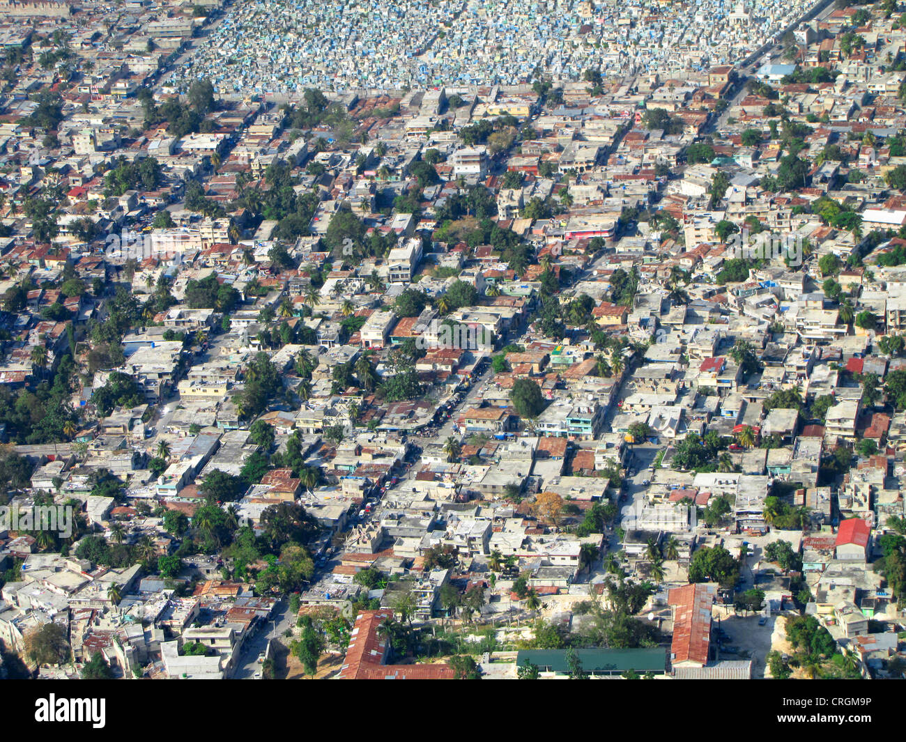 densely populated areas