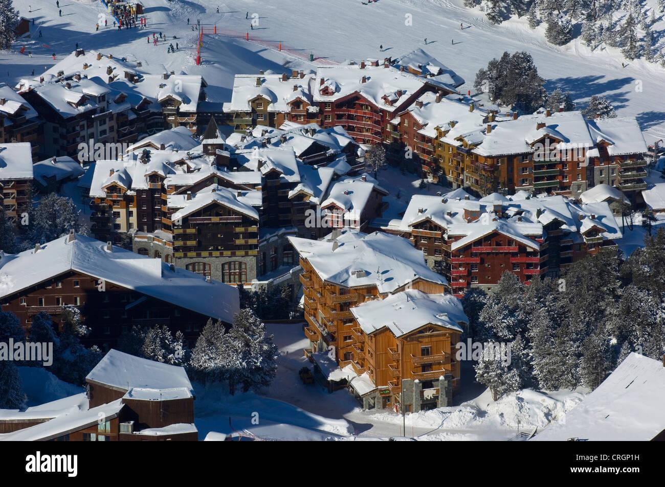 ski resort of Les Arcs 195O, France, Savoie, Alps - Stock Image