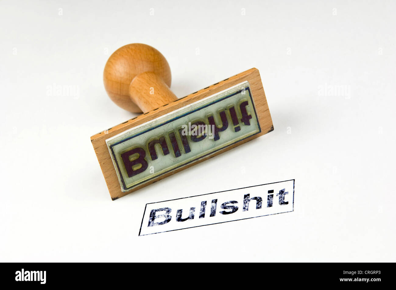 stamp with the inscription 'bullshit' Stock Photo