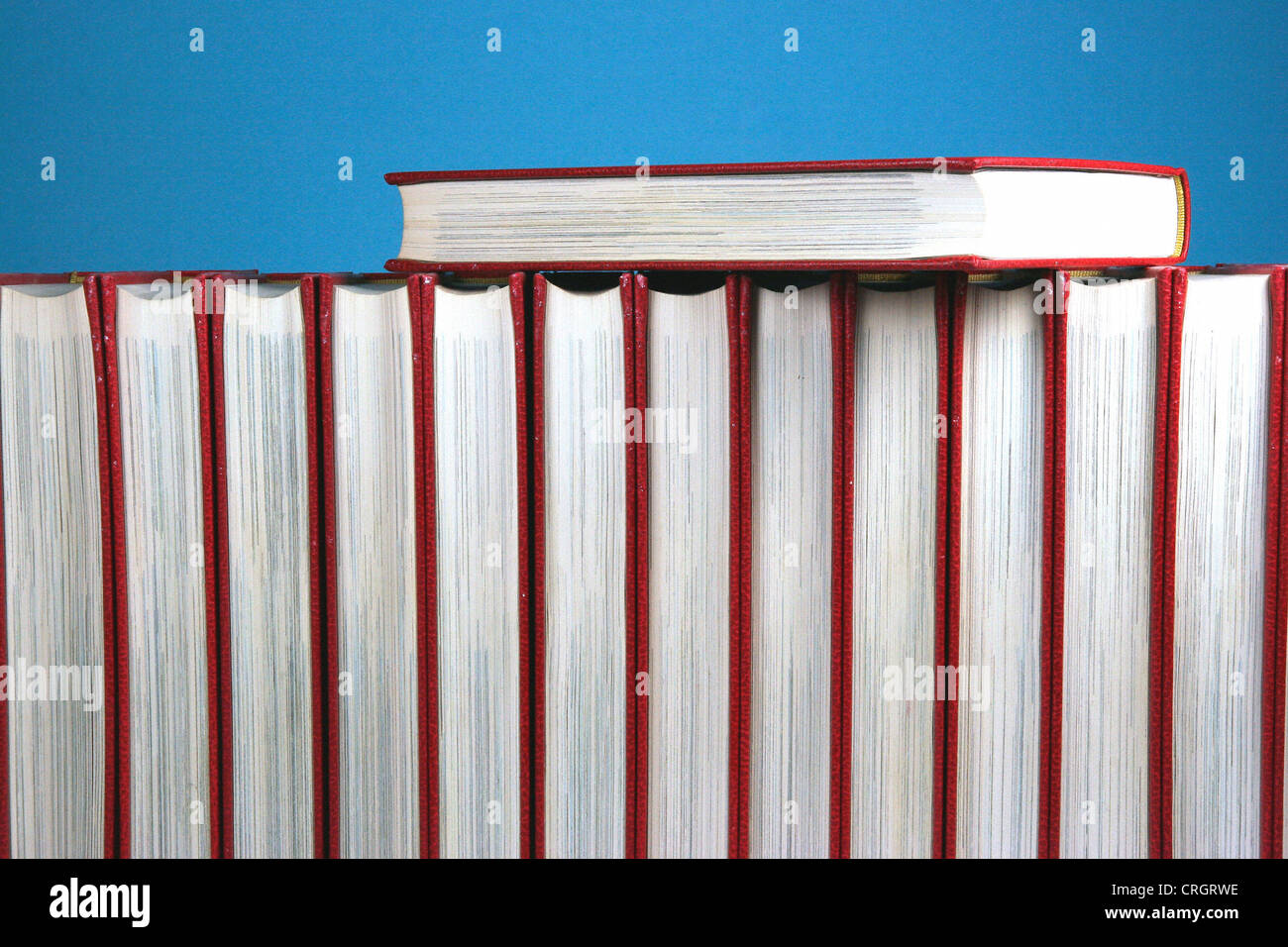 encyclopaedia in a row - Stock Image