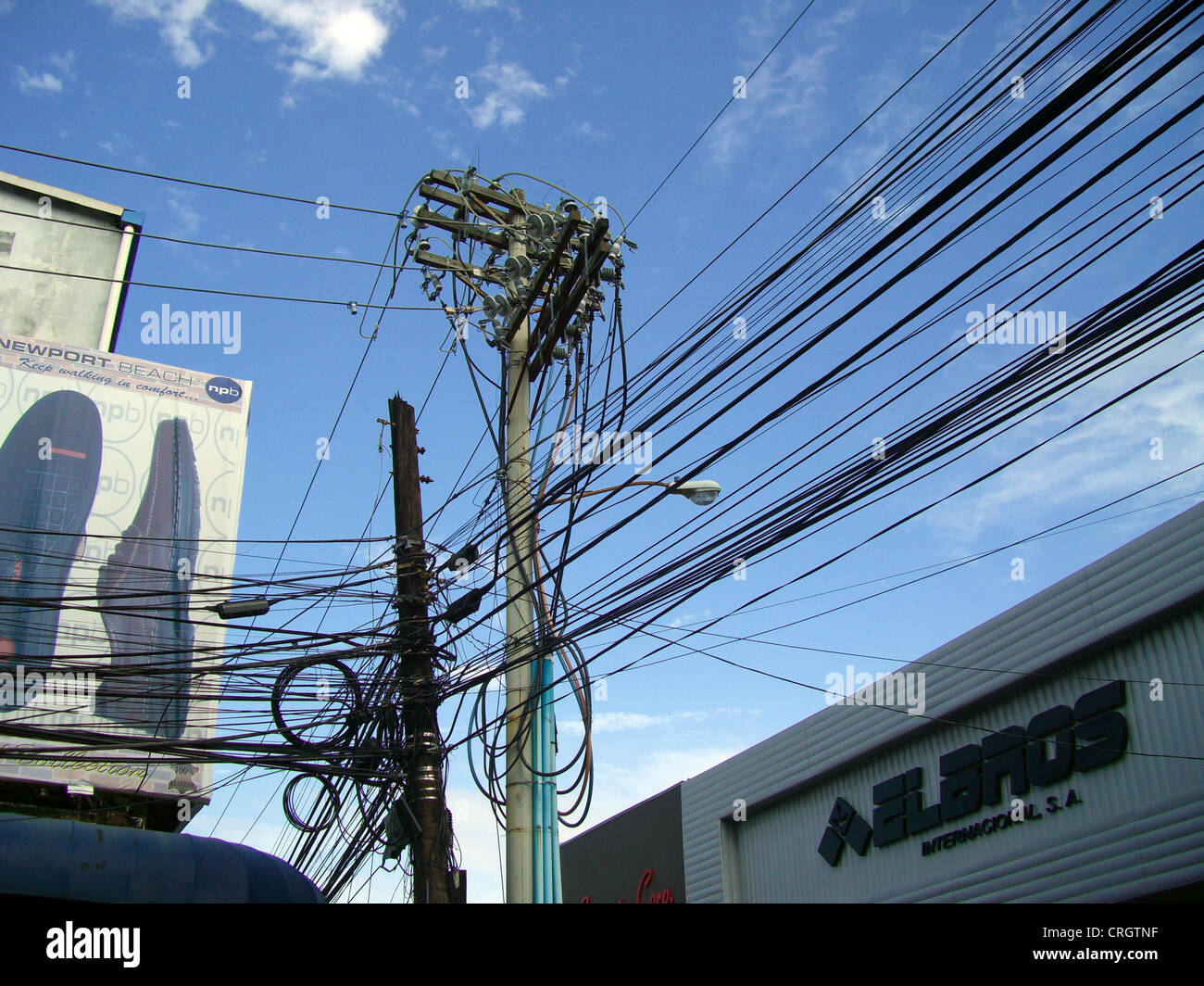Admirable Mess Of Electric Cables And Telephone Wires Stock Photos Mess Of Wiring Digital Resources Ntnesshebarightsorg