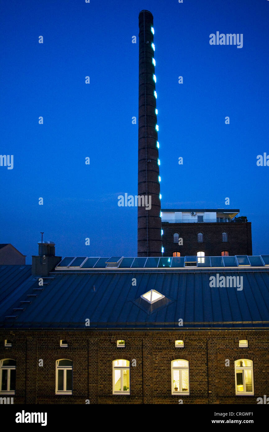 building of former linden brewery, today center of international light art, Germany, North Rhine-Westphalia, Ruhr - Stock Image