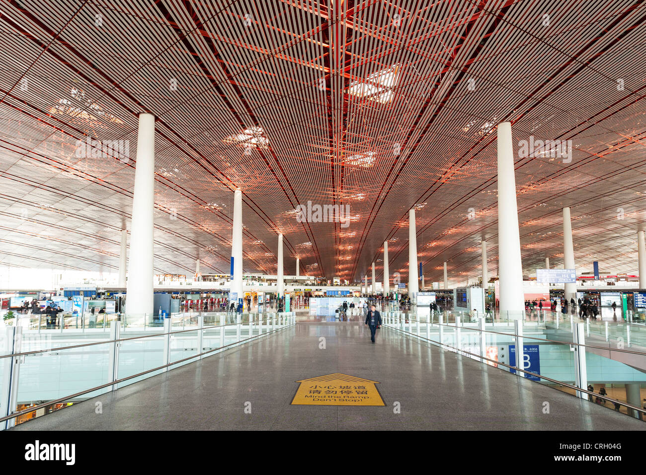 Terminal 3, Beijing International Airport, viewed from the entrance. - Stock Image