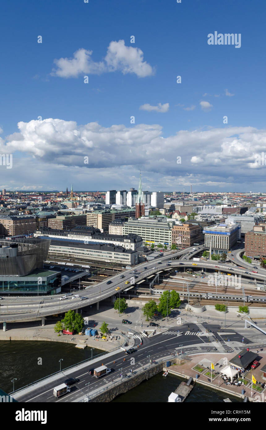 Stockholm from the City Hall Tower, Stockholm, Sweden - Stock Image