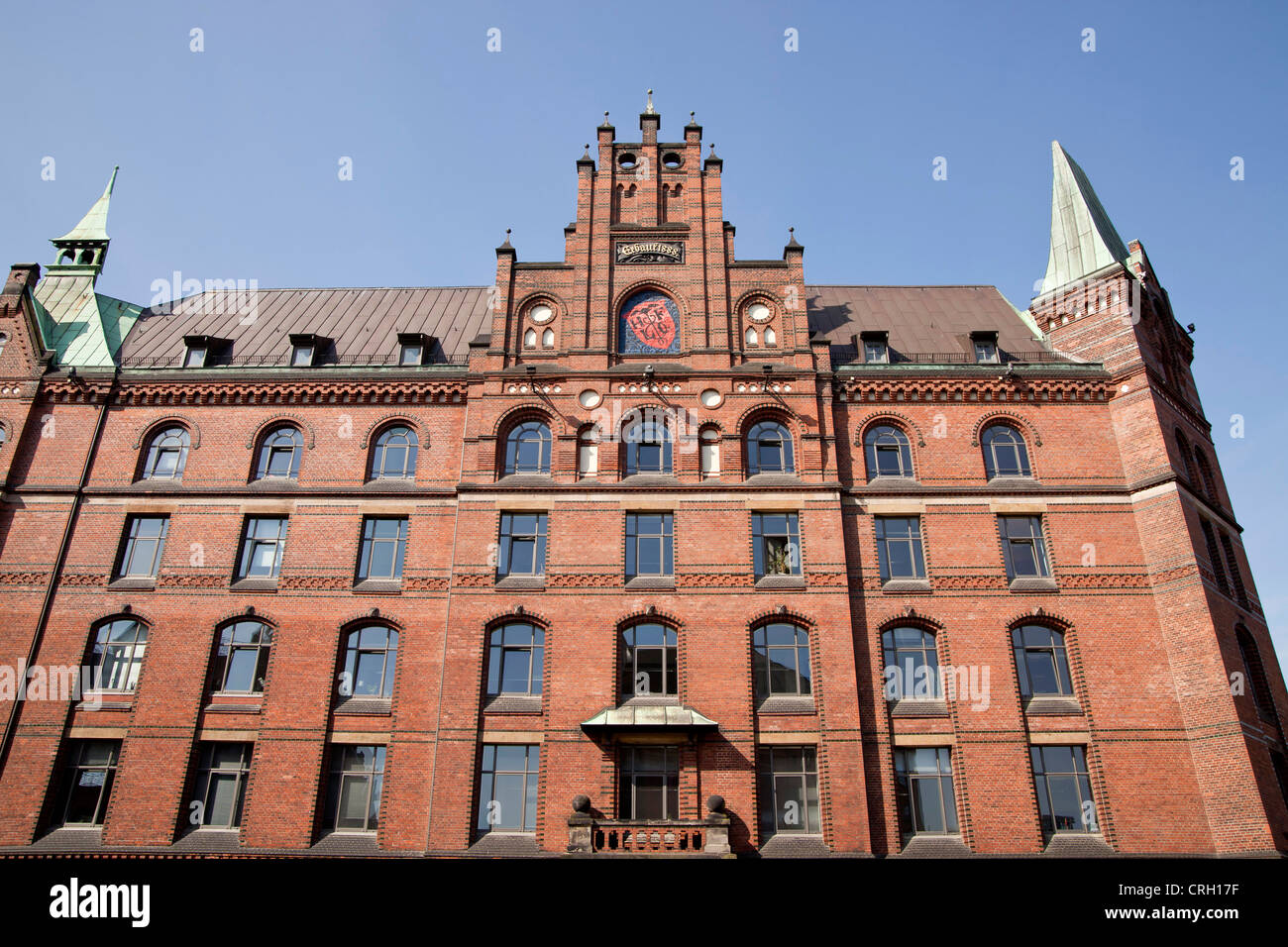 Sandthorquaihof in the Speicherstadt district, Free and Hanseatic City of Hamburg, Germany, Europe Stock Photo