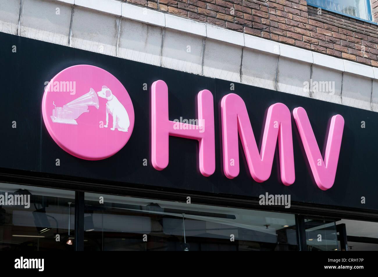 HMV store logo - Stock Image