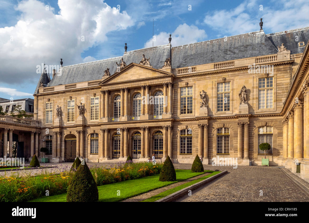 National Archives or Archives Nationales building, aka the Hotel de Soubise building, Paris, France - Stock Image