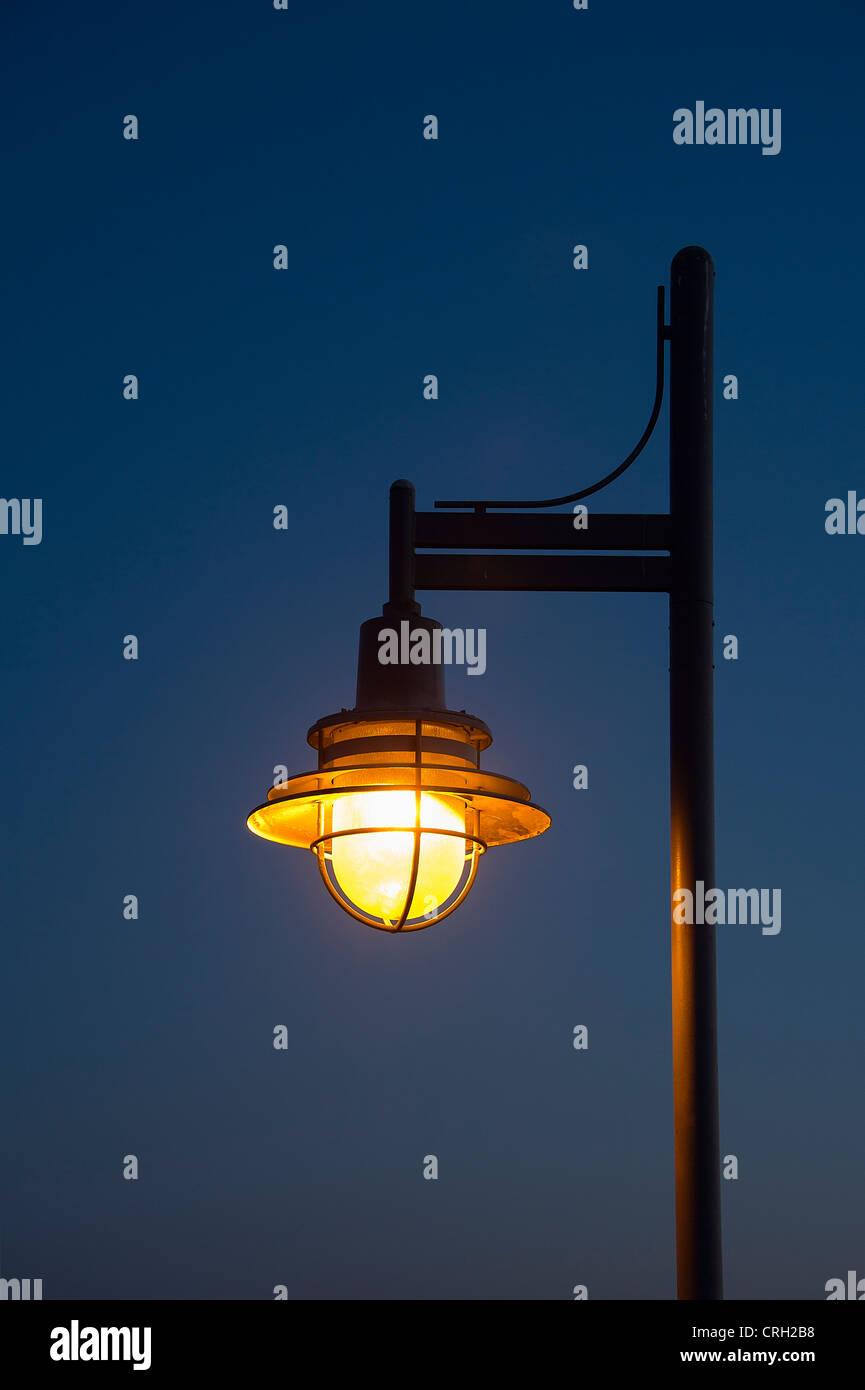 Streetlamp at night. - Stock Image