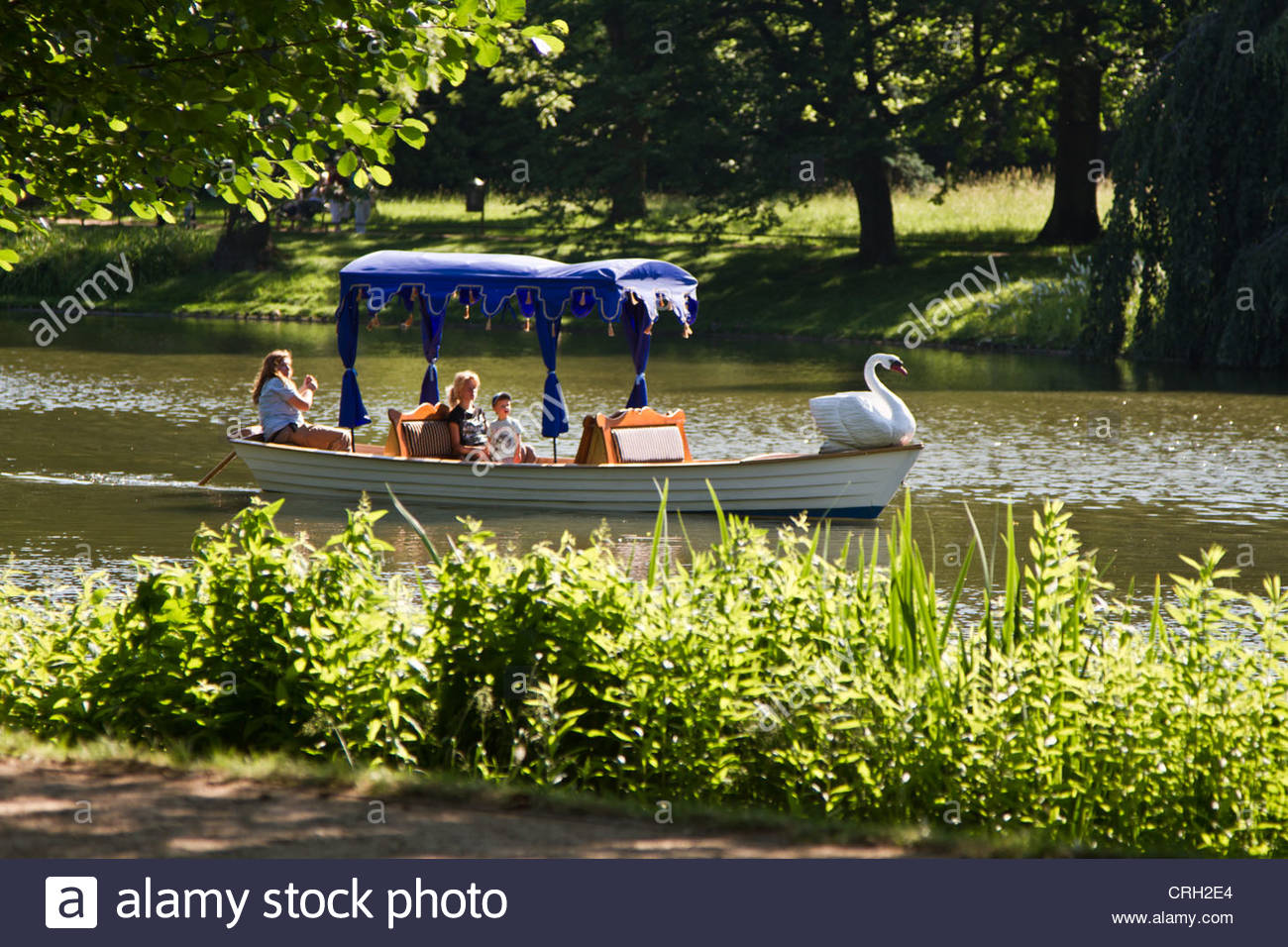 gondolier at work in Warsaw , Poland - Stock Image