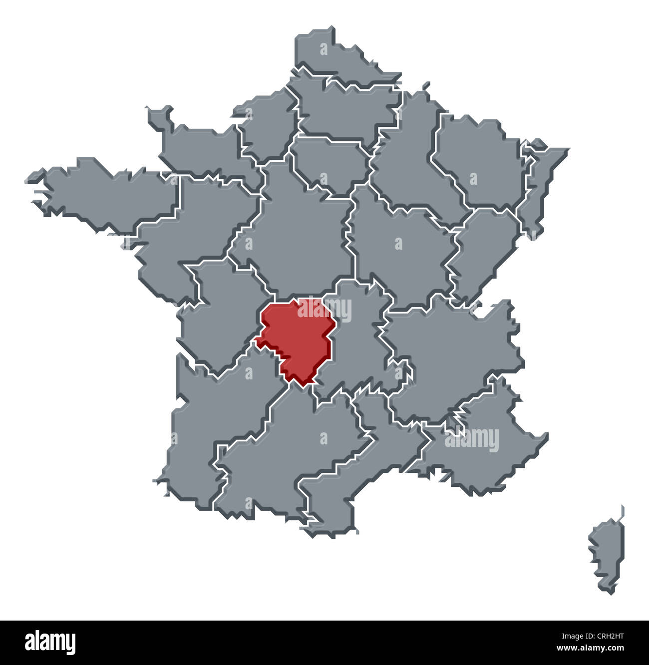 Political map of france with the several regions where limousin is political map of france with the several regions where limousin is highlighted gumiabroncs Images