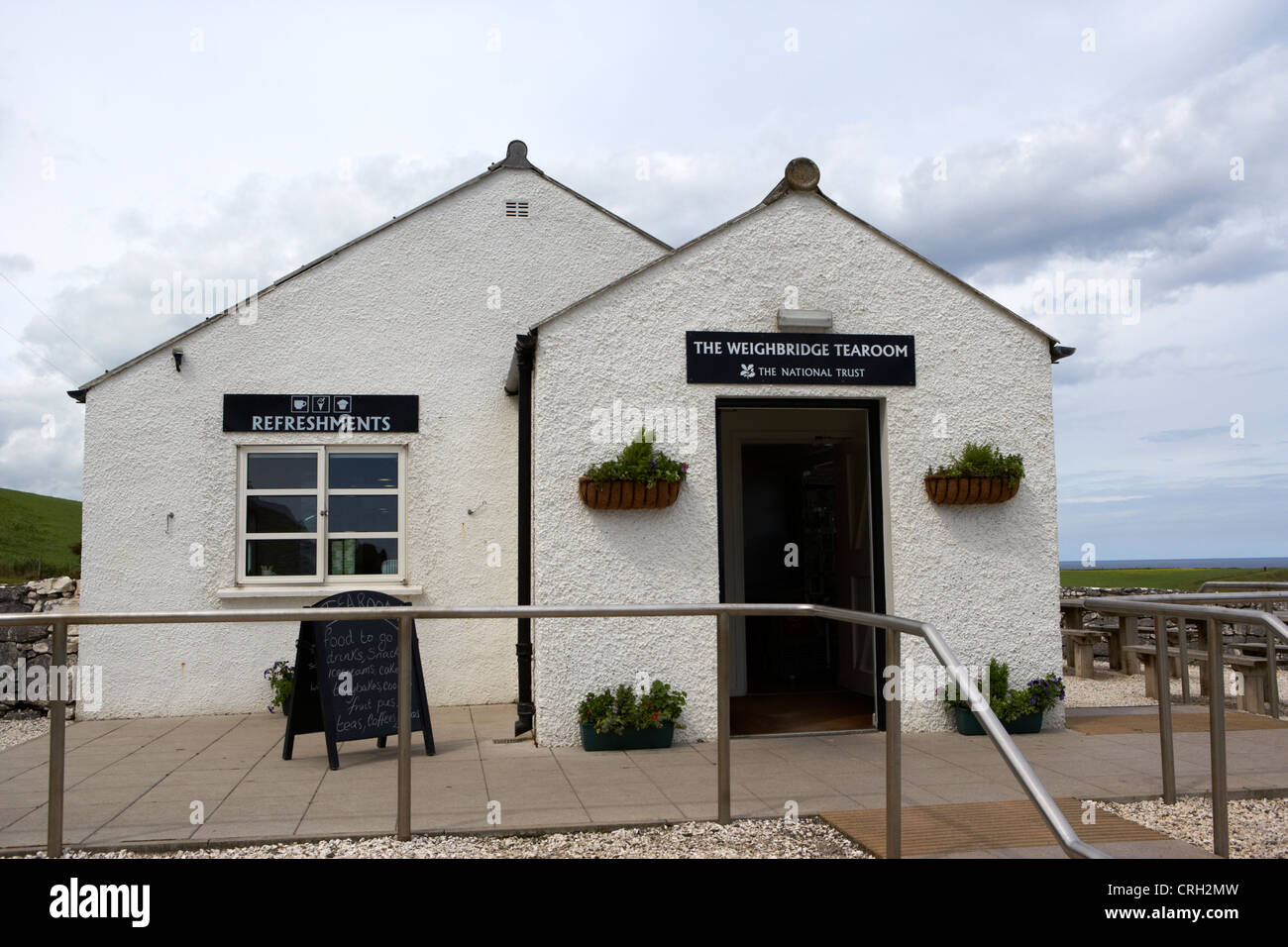 the national trust weighbridge tearoom at carrick-a-rede county antrim northern ireland uk - Stock Image