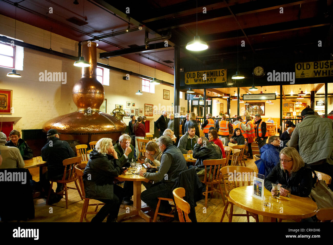 the restaurant kitchen cafe and bar old bushmills distillery county antrim northern ireland uk - Stock Image