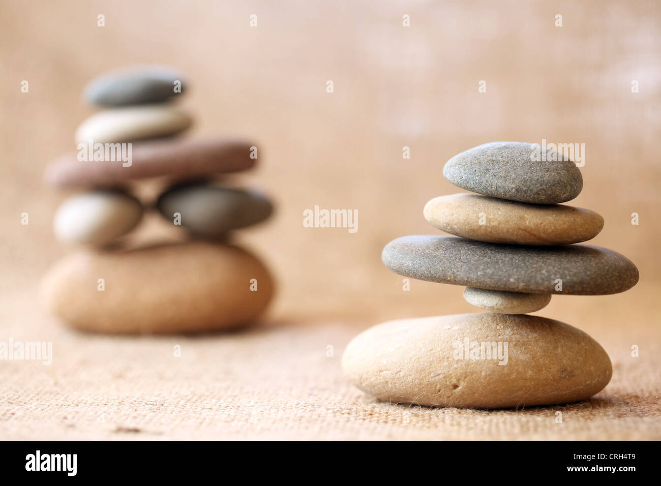 Stacked stones - Stock Image