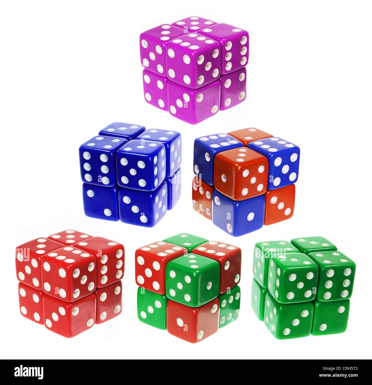 Dice Puzzle Cubes - Stock Image