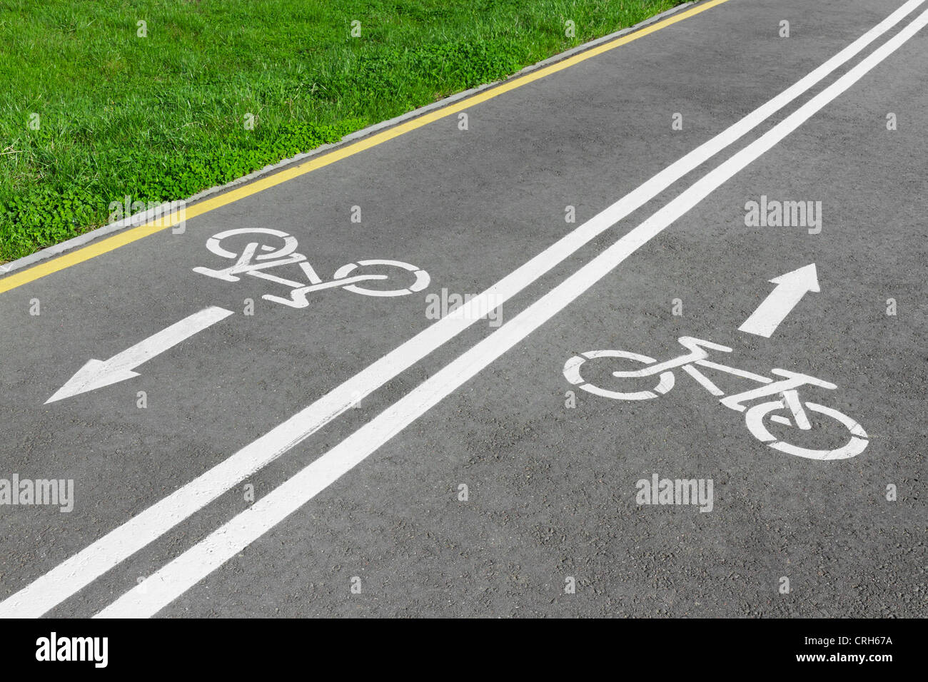 bike lane, road for bicycles - Stock Image