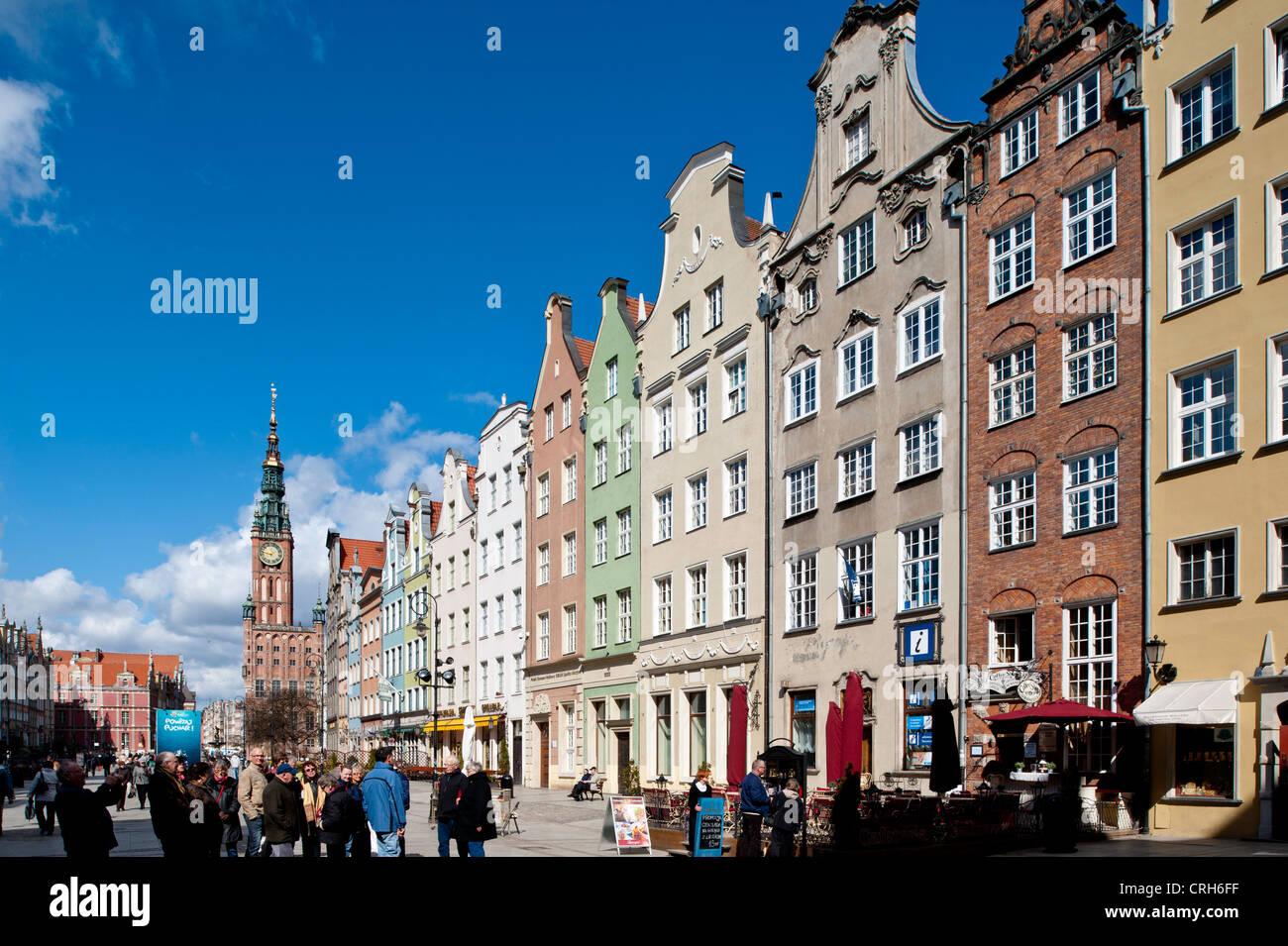 Long Market, Old Town, Gdansk, Poland - Stock Image