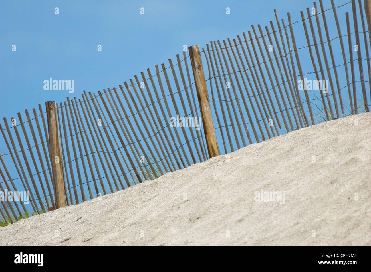 beach dune fence - Stock Image