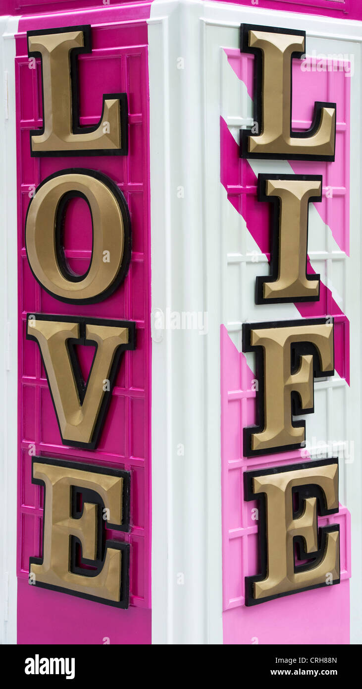 BT Artbox 'Jubilee' . Love Life. Baker Street. London - Stock Image