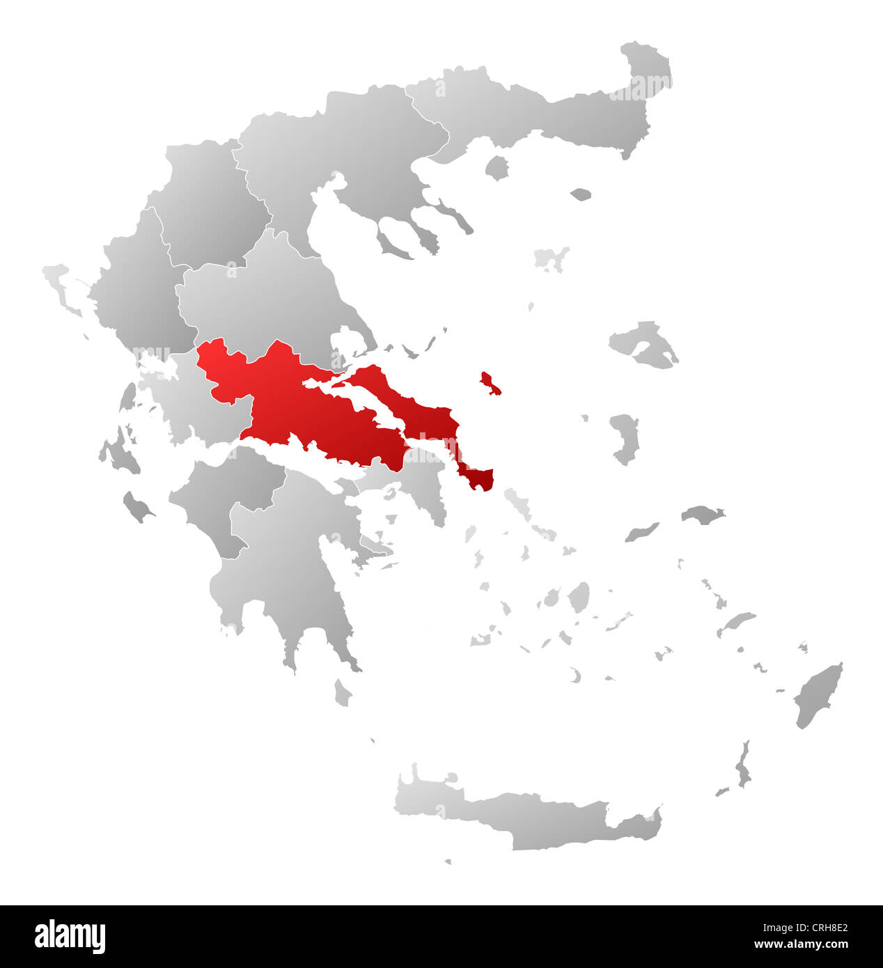 Where Is Greece On World Map.Political Map Of Greece With The Several States Where Central Greece