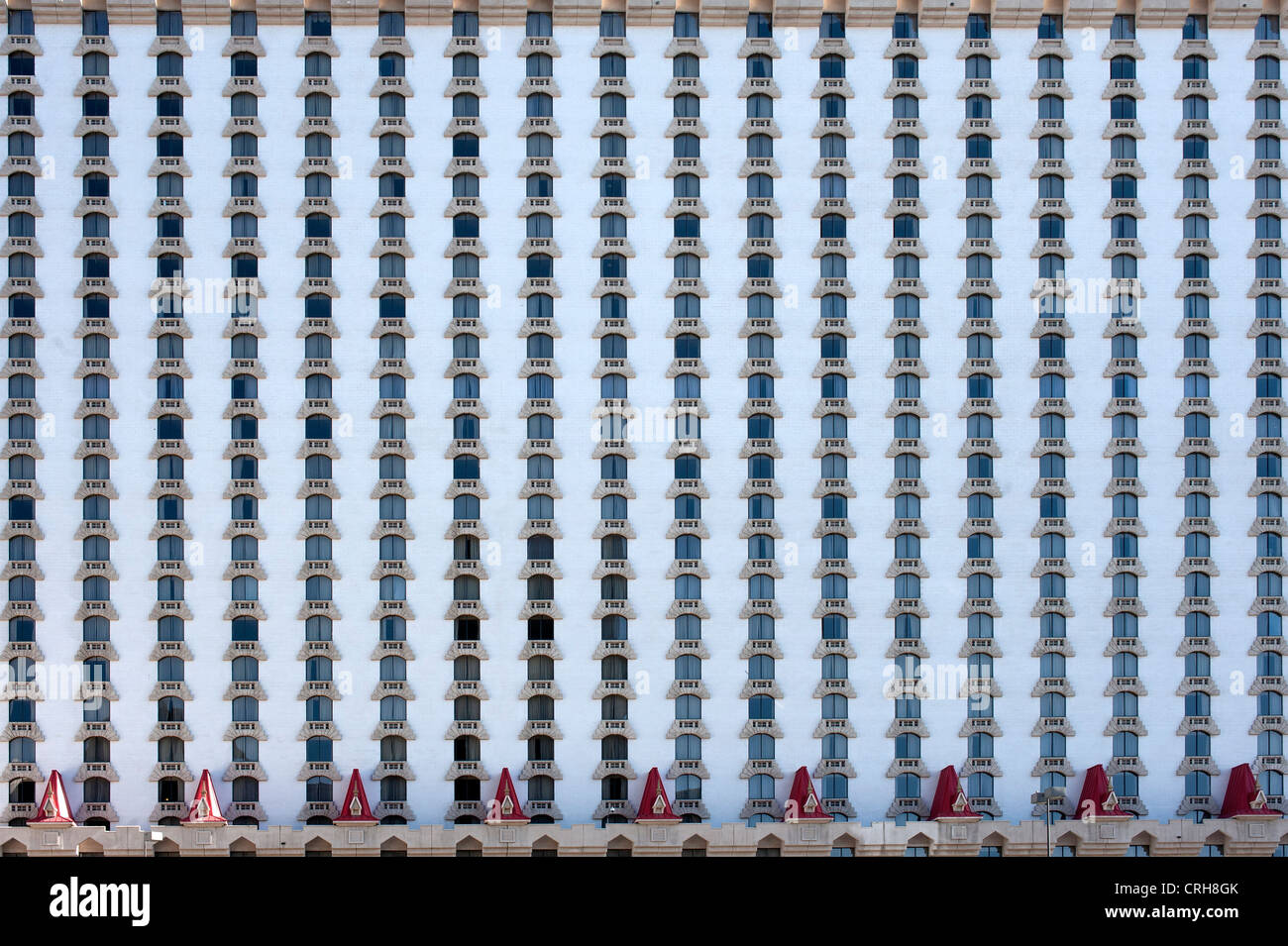 Shuttered windows on the Excalibur Resort Hotel in Las Vegas, Nevada, United States of America, USA Stock Photo
