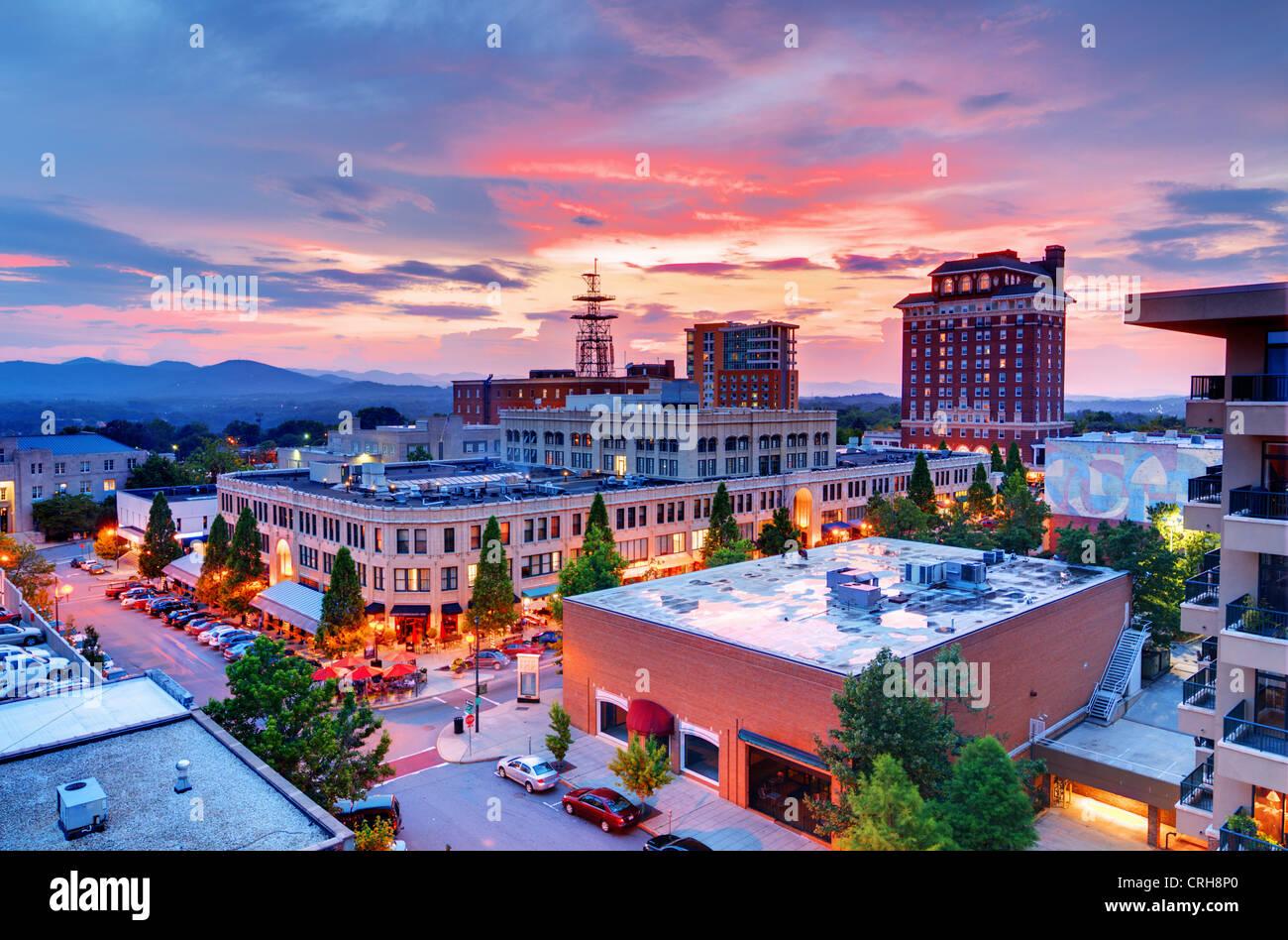 Downtown Asheville, North Carolina at Grove Arcade - Stock Image